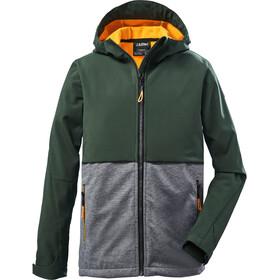 killtec KOW 30 Softshell jakke Drenge, grøn/grå